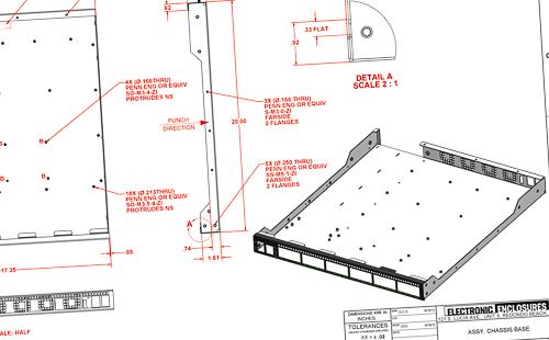 rack mount sheet metal drawing