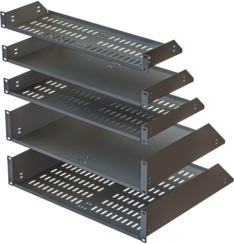 rack mount shelves and trays