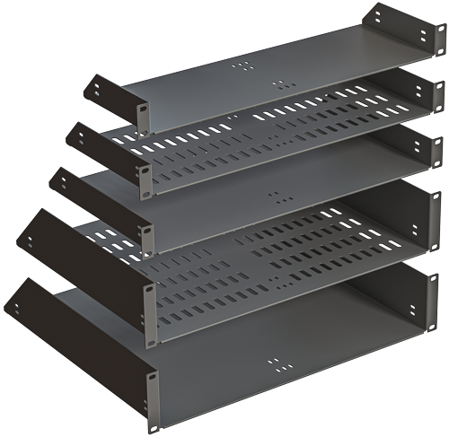 rack mount trays with hems